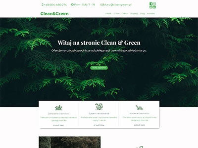 Clean & Green company website