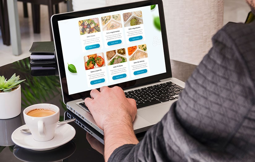 Design of a modern website for catering companies